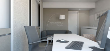 Interior design of an office